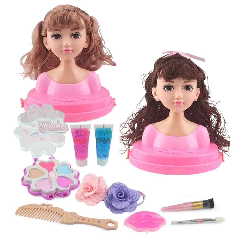 Children's Makeup Comb Hair Toys Doll Princess Girl Toys Half Body Simulation Makeup Hairdressing Princess Educational Toys Gift