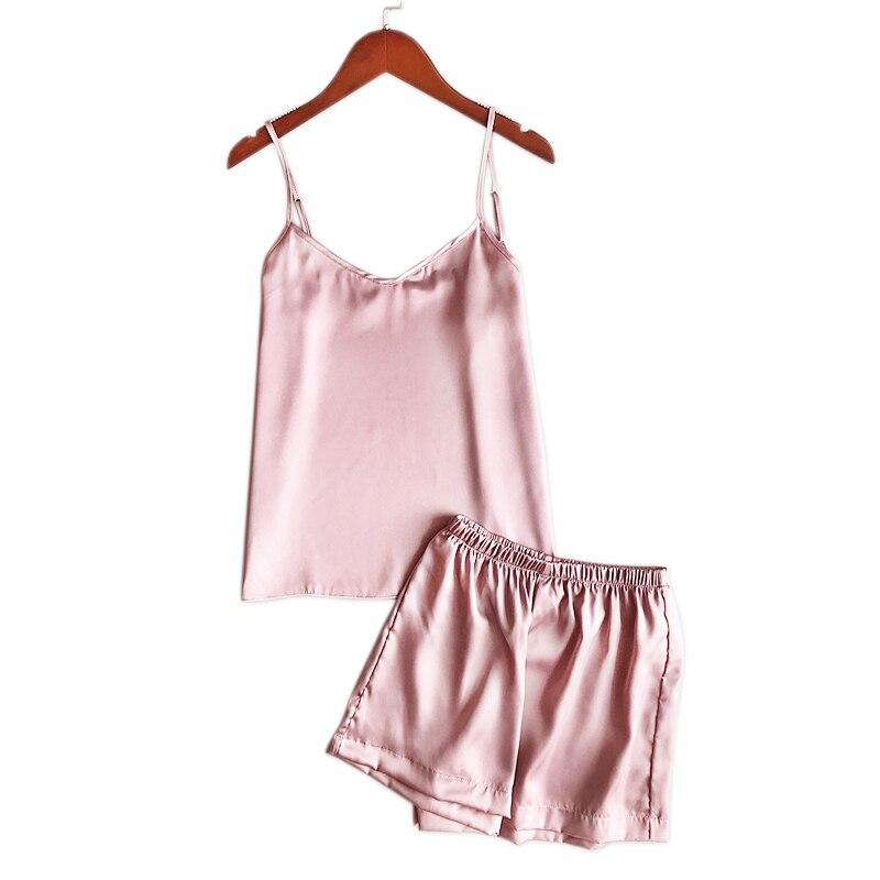 Sexy spaghetti strap womens pyjamas silk cute womens pajamas shorts set  Satin ice silk women nightwear shorts korean pajamas-in Pajama Sets from  Underwear ... 99149d413