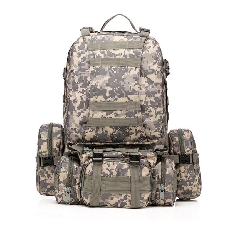 Sac à dos militaire extérieur 50L sac à dos Camping randonnée sac de Trekking (couleur de la bandoulière aléatoire)