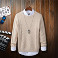 Men Sweaters 2016 Brand O Neck Men Pullovers Solid Color Autumn Winter Sweater Men Long Sleeve Pullovers Male Casual Pull Homme