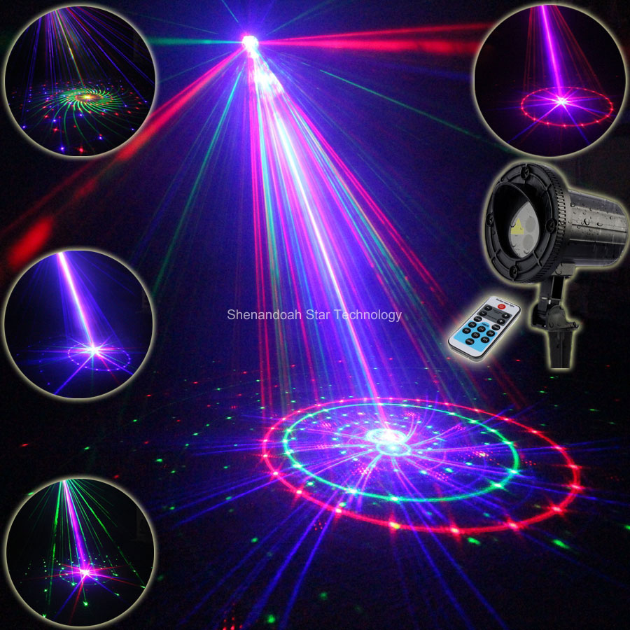 Outdoor Waterproof RGB Laser 36 Patterns Projector Coffee Holiday House Party Xmas Tree DJ Bar Wall Landscape Garden Light T85 12v 50w colored rgb outdoor lights 110v wall projector flood light garden waterproof landscape lamp remote control by dhl 6pcs