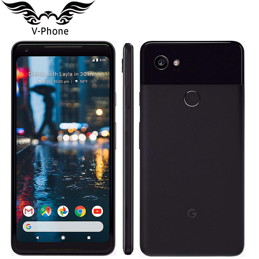 Global EU Version 6 Inch Google Pixel 2 XL Mobile Phone Brand NEW Snapdragon 835 Octa Core 4GB 64GB 128GB 4G Android Phone