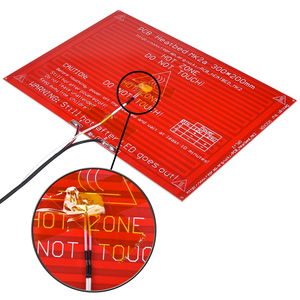 Image 3 - MK2A Heatbed 300*200*2.0 con Resistenza a Led E Cavo Reprap Rampe 1.4 Letto Caldo + 100K ohm Ntc 3950 Termistori per 3D Stampante