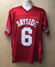 1339933c454 VIVA VILLA Saved By Bell AC Slater 6 Bayside Tigers Costume Football Jersey  Red