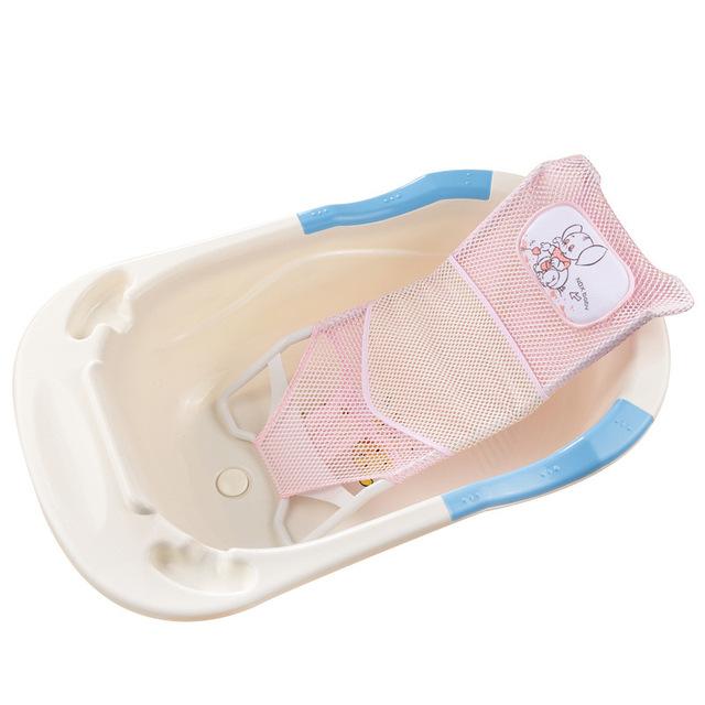 Hot slae banheira do bebê ajustável padrão dos desenhos animados recém-nascido segurança segurança Bath assento de bebê apoio chuveiro frete grátis