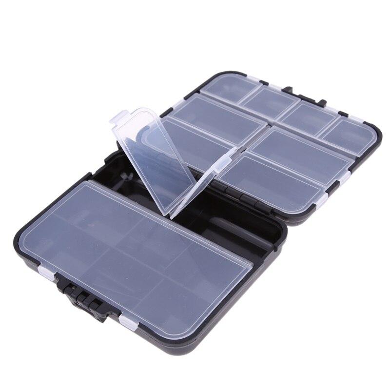 Aparejos de pesca caja de Peso Ligero 26 Compartme Plástico Mosca Pesca Cuchara