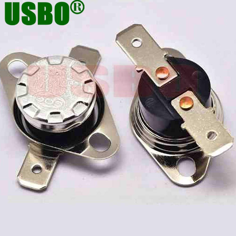 Durevole salto Improvviso 250 V 10A termostato protettore termico 90 gradi normalmente chiuso interruttore di controllo della temperatura KSD301 10 pz