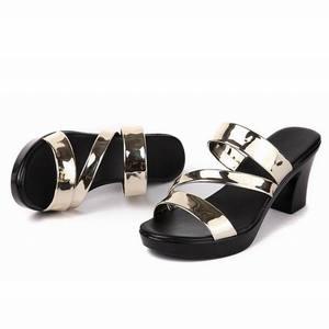 Image 3 - GKTINOO sandalias deslizantes para mujer, zapatos de tacón alto grueso, con plataforma, para verano, 2020