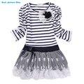 Menina Princess Dress 2015 nova moda marca crianças Girls Dress Hot Saling bebê Kids Clothing Set