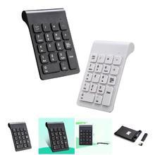 Portable 2.4G Wireless Digital Keyboard USB Pad 18 Keys Keypad For Laptop PC Notebook Desktop XXM8