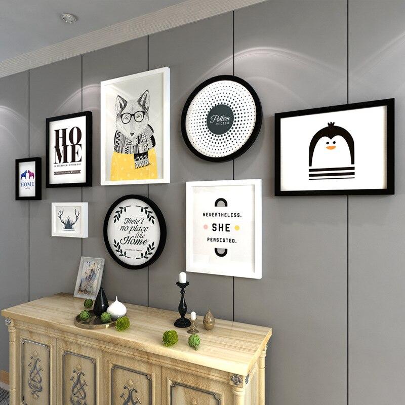 8 Holz Bilderrahmen Wandmalereien Modernen Wand Dekorative ...