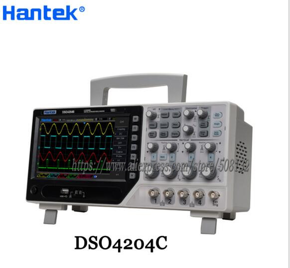 Hantek DSO4204C Digital Storage Oscilloscope 64K 4CH 200MHz bandwidth with signal source 1GSs