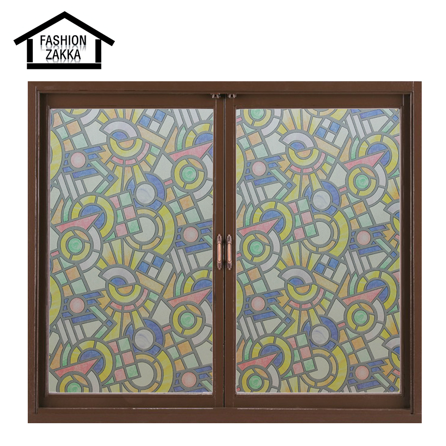Hot pattern european church style stained glass film for Decorative stained glass windows