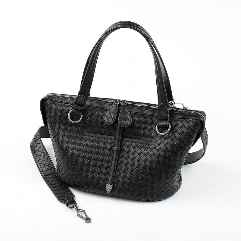 2019 najnowszy kobiety torebki pojedynczy torba na ramię owczej ręcznie tkane wysokiej jakości wewnętrzna i zewnętrzna skóra właściwa w Torebki na ramię od Bagaże i torby na  Grupa 1