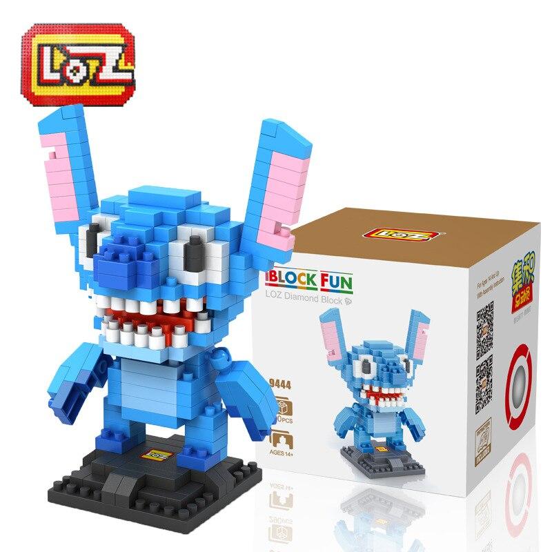 2pcs/lot LOZ Diamond Building Blocks Lilo & Stitch / Popeye Model Carton High Quality 3D Assemble Toys Children Education Toys