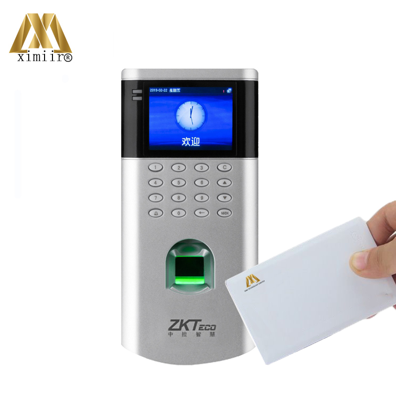 ZK F200 Fingerprint Door Access Controller With 13.56MHz MF IC Card TCP/IP & USB Biometric Time Attendance Machine