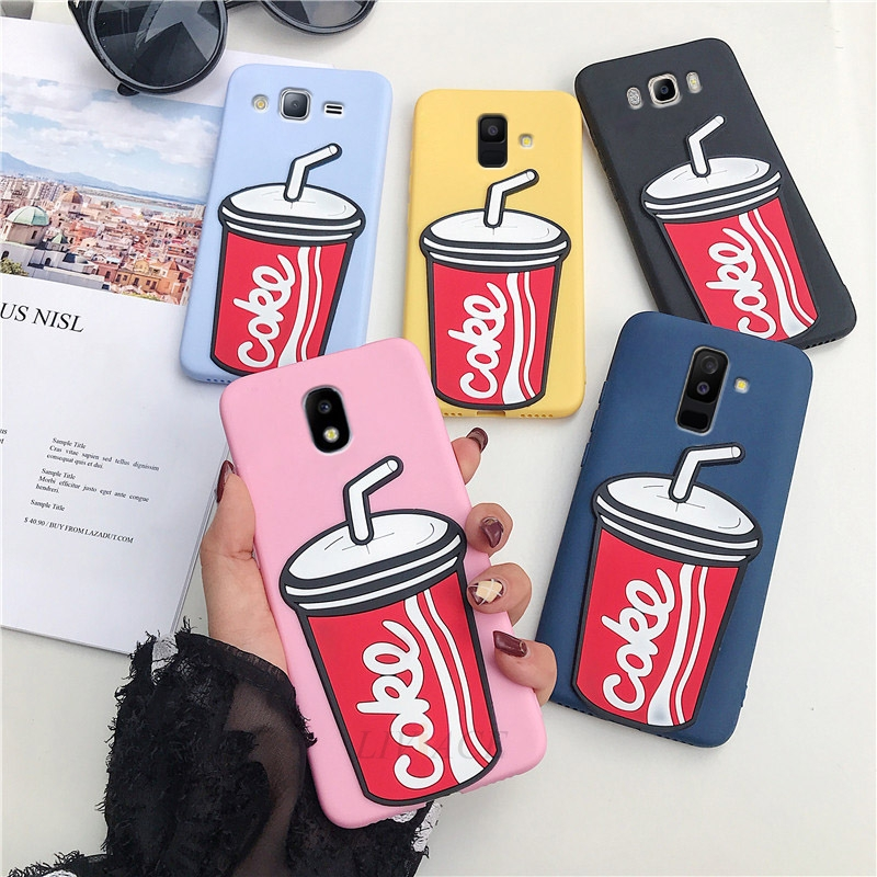 <font><b>3D</b></font> cola silicone cases on for <font><b>samsung</b></font> galaxy j8 <font><b>j7</b></font> j6 j5 j4 a6 a8 plus pro prime 2018 2017 2016 2015 soft tpu phone back cover image