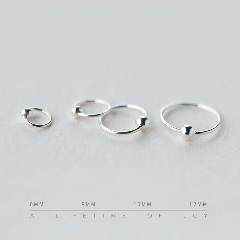 New 6mm 12mm Simple Mini Hoop 925 Sterling Silver Small