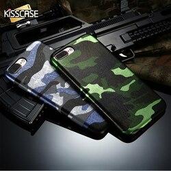BAISER étui pour iPhone 7 8 Camouflage PU Téléphone étui pour iPhone 6 6 s Pour iPhone 6 6 S 7 8 Plus X 10 Housse Pour Homme