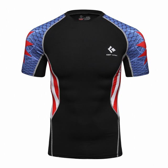 8aa6fc89 Men Sublimation mma lycra rash guard,compression Tights Base Layer Skin Men  Bodybuilding T Shirt Underwear Jersey Clothes