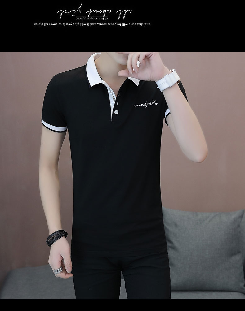 Short-sleeved T-shirt men's fashion casual cotton clothes decorated with multi-color optional 93