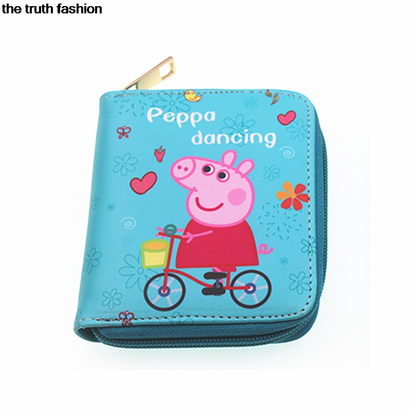 kids favorite wallets gift  Peppa Pig cion purse My Little Pony children card hold zipper pig wallets horse present peppa pig playing football