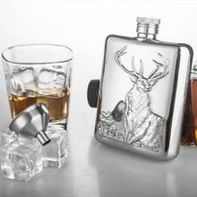 Hohe Qualität 6 unze Edelstahl Flachmann Personalisierte mit Trichter Alkohol Kolben Whiskyflasche Bar Werkzeuge Geschenke Flaschen mit Box