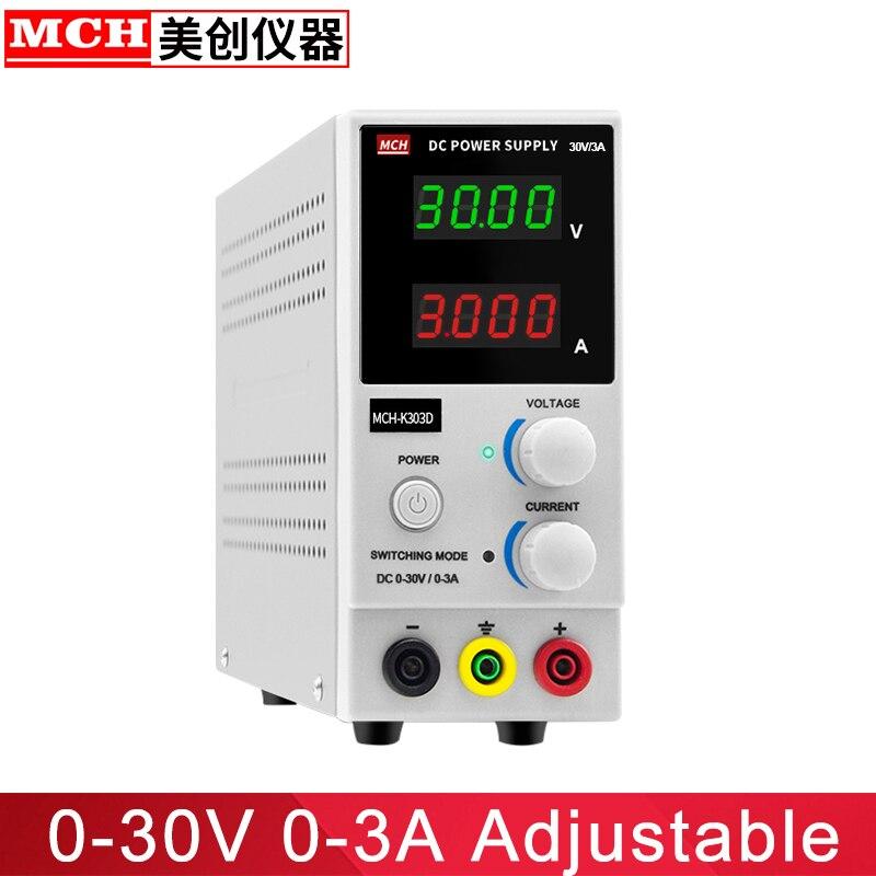 MCH Usine Directe 0-30 V 0-3A Réglable de Commutation DC alimentation MCH-K303D Banc alimentation DC alimentation stabilisée
