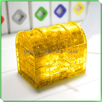 Hot Funny Treasure Chest DIY Jigsaw 3d Crystal Puzzle New 2014 Brinquedos Educativos Educational Kids Toys