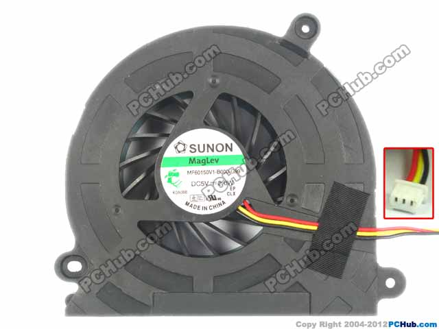 SUNON MF60150V1-B000-G99 Server Cooling Fan DC 5V 2.0W 3-wire free shipping for sunon kde2406phs2 dc 24v 1 9w 2 wire 2 pin connector 60x60x15mm server square cooling fan