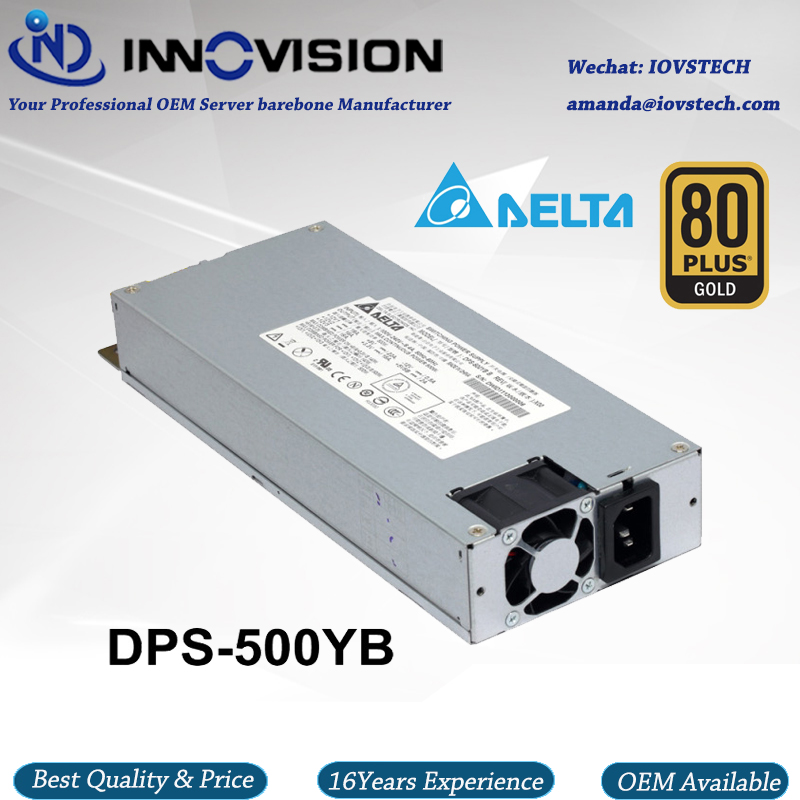 High-efficiency 1U PSU 500W industrial Power Supply with dual 8Pin good for 1U dual cpu server