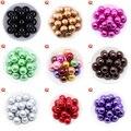 Круглые акриловые жемчужные подвески с сердечком для изготовления ожерелий и браслетов  6-20 мм