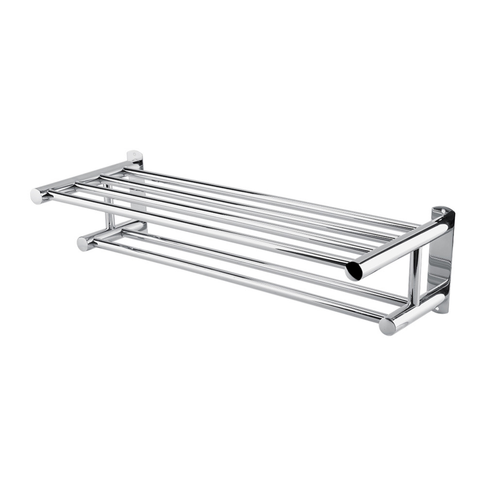 Stainless Steel Towel Rack Luxury Solid Polished Chrome