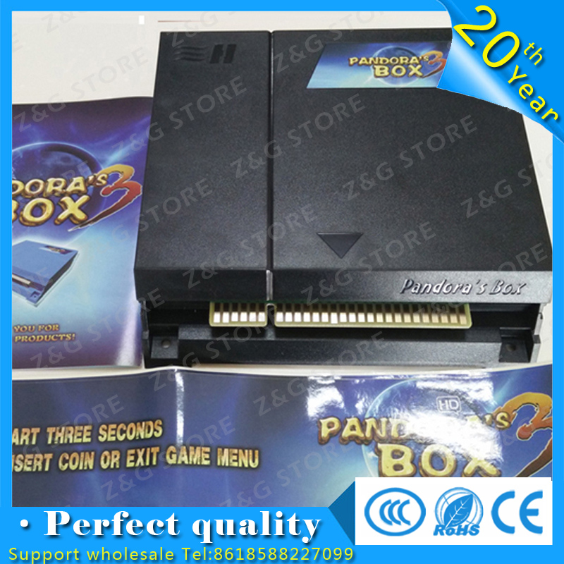 Jamma arcade fighting Pandora Box 3,520 in 1 game board/game pcb original 520 in 1 Pandora's Box 3 free shipping pandora box 4s 815 in 1 jamma mutli game board arcade mutligame pcb vga hdmi signal output for arcade game cabinet