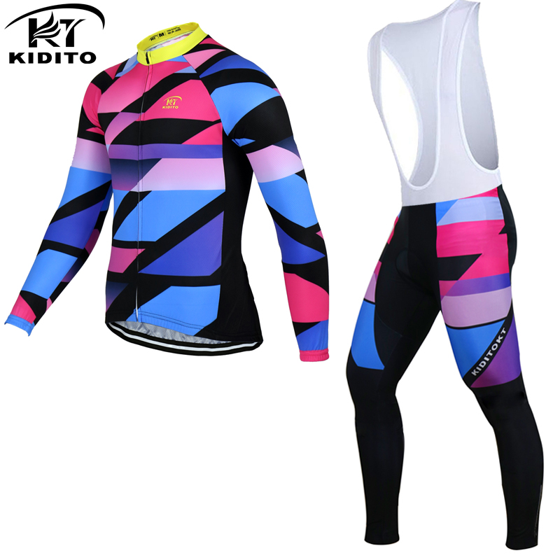 ФОТО KIDITOKT 2017 Cycling Set Winter Long Sleeve Bike Jersey  Thermal Fleece Roupa De Ciclismo Invierno Hombre MTB Bicycle Clothing