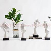 Just want to simple modern sculpture art room decoration crafts Nordic golden decorations 1pcs