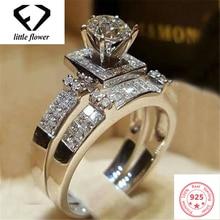 14K Gold Full Diamond Engagement Ring for Women Anillos De Anel Bizuteria Gemstone Diamante Fine Jewelry Bague Rings