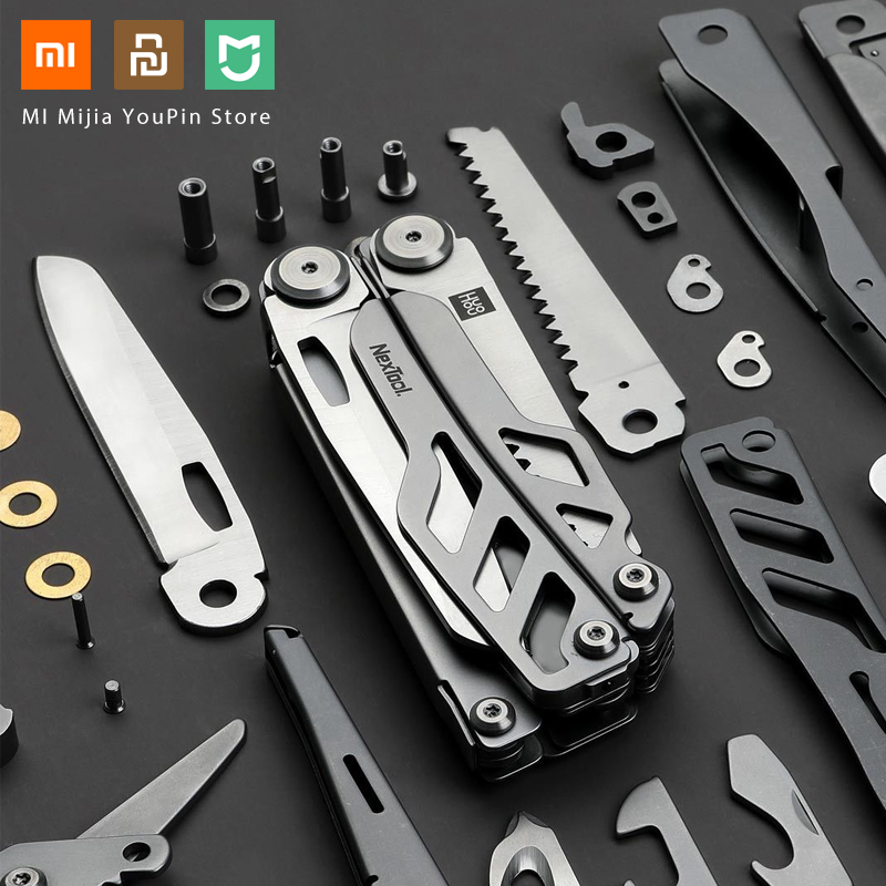 In Stock Xiaomi Huohou Multi-function Pocket Camping Survival Tool Top Quality Folding Knife 420J2 Stainless Steel Blade Hunting