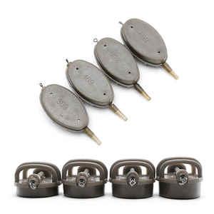 Toply Carp Fishing Inline Method Feeder 4 Feeders 15/20/25/35g 30/40/50/60g Mould Steel Set