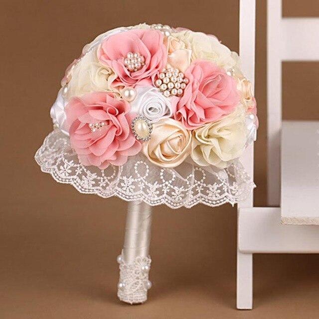 Новое поступление 2016 Bridesmaid YIYI свадебный букет индивидуальные свадебные цветы свадебные букеты искусственный букет невесты WB015