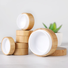 5ml 10ml 30ml Natural Bamboo Refillable Bottle Cosmetics Jar Box Makeup Cream Storage Pot Container Round Portable