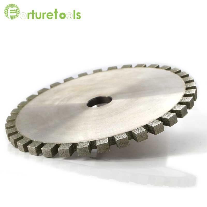 1 шт. полный члениковые зубы алмазный шлифовальный круг для стекла с ЧПУ индивидуальные гальванические абразивные инструменты Грит 180 DZ