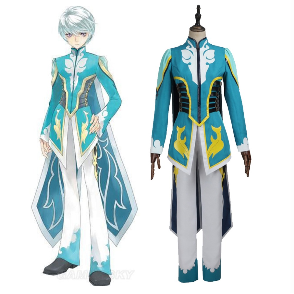Cosplaydiy Tales of Zestiria Cosplay Mikleo Cosplay Costume Adult Men Halloween Carnival Outfit Custom made цена