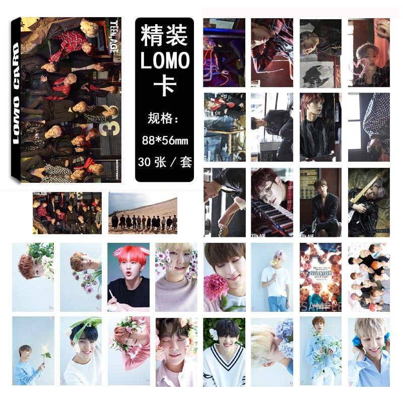 Seventeen Love Letter Album HD Photo Cards (30Pcs/Set )
