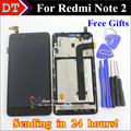 Для Xiaomi Redmi Note 2 Жк-Дисплей + Сборка экрана планшета сенсорный Для Xiaomi Redmi Hongmi Note2 мобильного телефона 1920*1080 С Рамкой