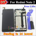 For Xiaomi Redmi Note 2 Lcd Display+digitizer touch screen Assembly For Xiaomi Redmi Hongmi Note2 cellphone 1920*1080 With Frame