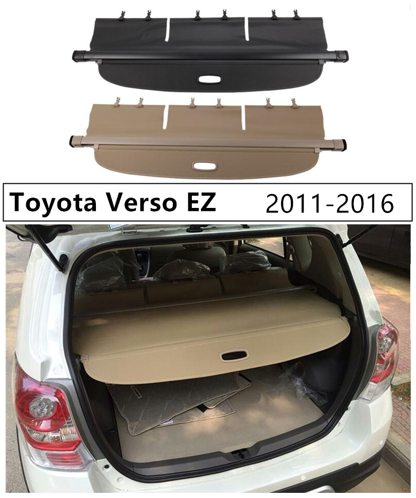 Rear Trunk Cargo Cover For Toyota Verso EZ 2011 2012 2013 2014 2015 2016 High Qualit Security Shield Auto AccessoriesRear Trunk Cargo Cover For Toyota Verso EZ 2011 2012 2013 2014 2015 2016 High Qualit Security Shield Auto Accessories