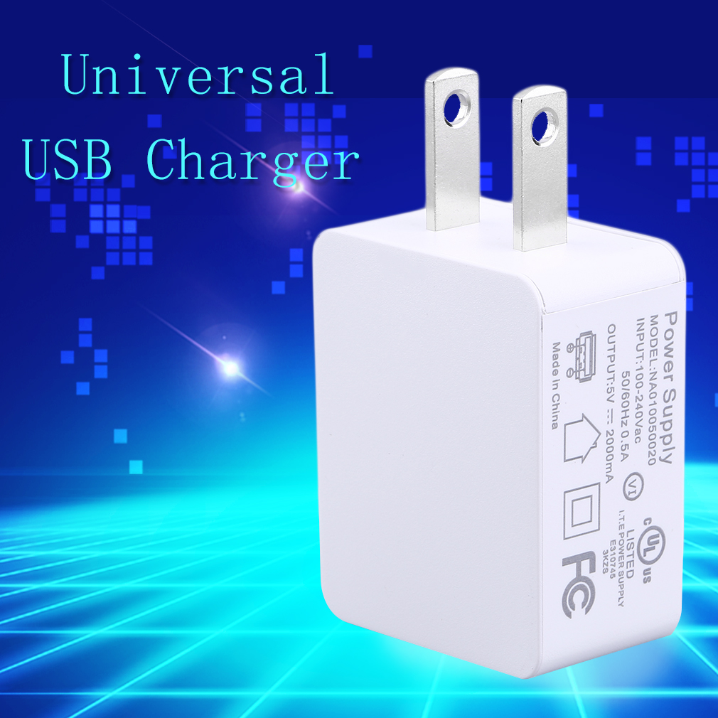 5V 2A Practical USB Plug Lightweight USB Charger Tour Home Office Portable US/EU Plug Cell Phone Charger
