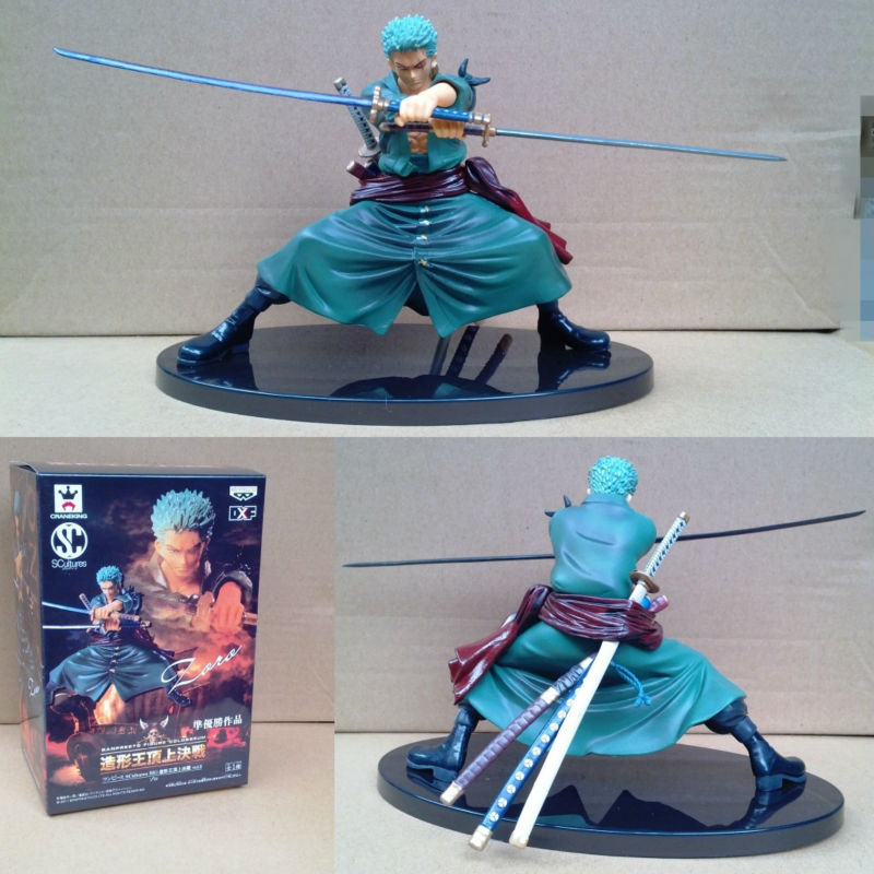 5 One Piece Toys SCultures Roronoa Zoro Doll Pvc Action Figure 12cm