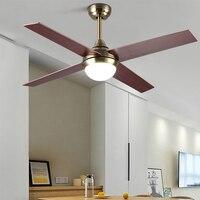 LWZH LED Light 220V Ceiling Fans Light 48 inch Remote Control for Living Room Bed Room Study Room